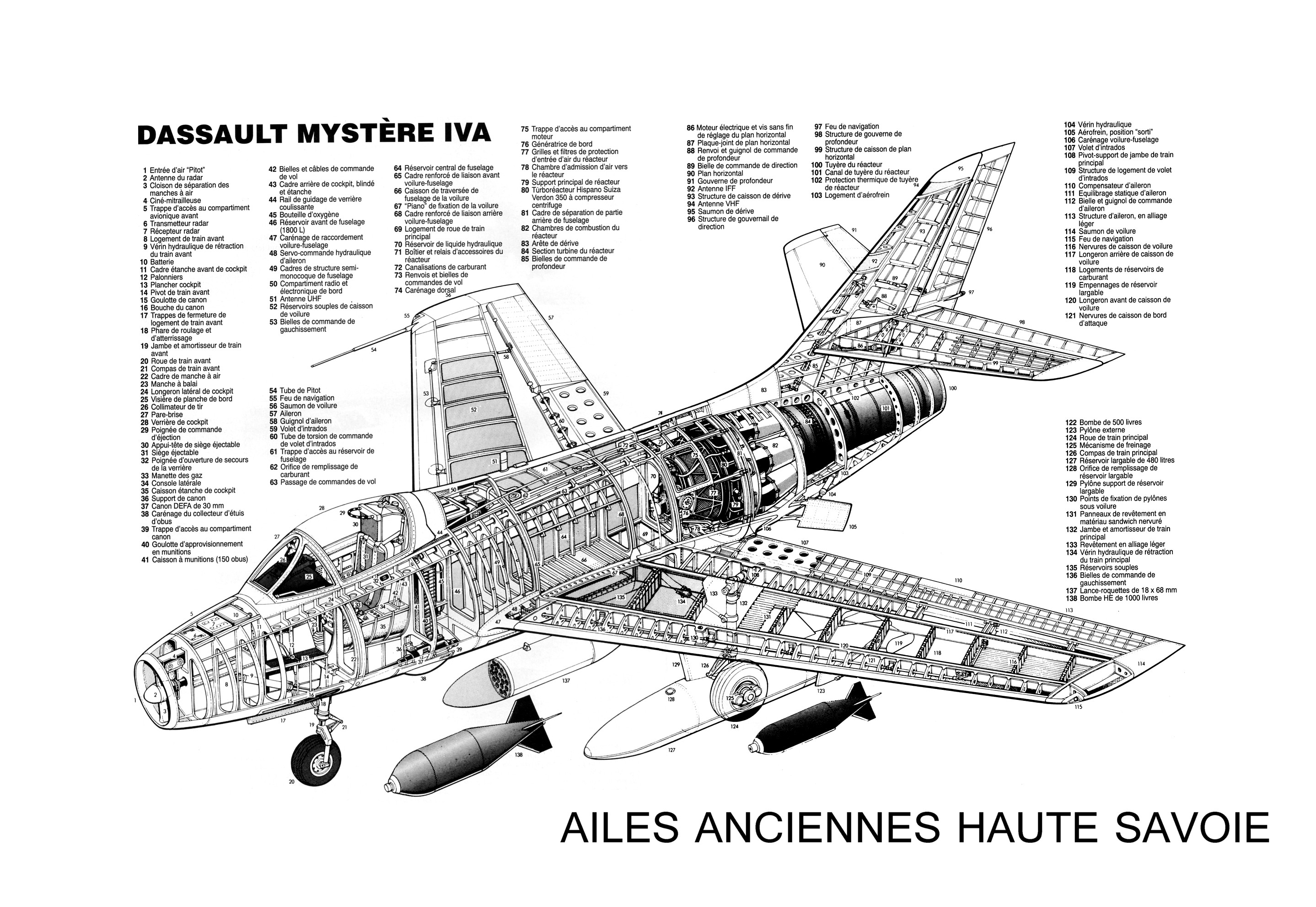 Dassault Mystere IV écorché