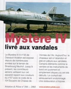 L'épopée du Dassault Mystère IV n°33