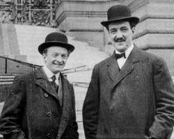 Les frères Dufaux, en 1905 (photo AEG).