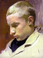 Henri, à 12 ans, peint pas son père Frédéric.
