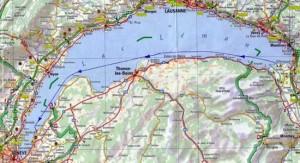 La quasi-totalité du vol se fera en territoire français,sur la rive sud du Léman.