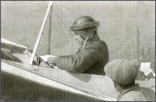Jorge Chavez sur son Bleriot à Brigue, 23 septembre 1910.