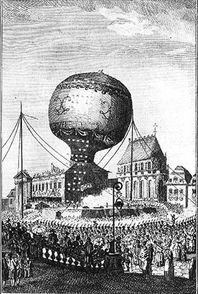 La première ascension de passagers, le 19 septembre 1783 à Annonay
