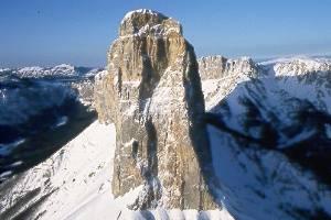 Le Mont Aiguille, en hiver