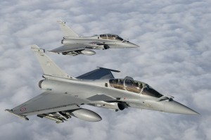 Rafale en vol. crédit : armée de l'air