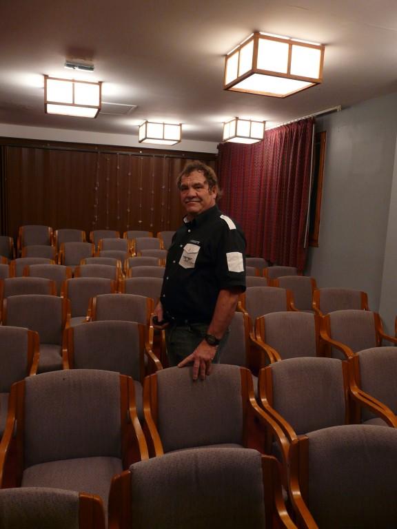 Daniel Roche, 65 ans, après la projection de son film Les Sanglots indiens du Mont-Blanc, à Megève (Haute-Savoie), le 26 janvier 2017.