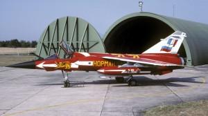Le Mirage F1 CT n°220 portant la livrée du Normandie-Niémen.
